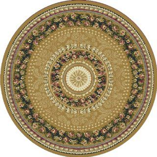 Home Dynamix Optimum 11023 151 Gold 7 Feet 10 Inch by 7 Feet 10 Inch Round Transitional Area Rug   Machine Made Rugs