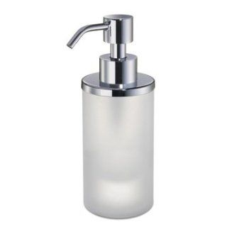 Windisch Round Frosted Crystal Glass Soap Dispenser 90463M   Countertop Soap Dispensers