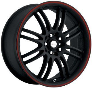 "Focal Type 163 F16 FWD Matte Black Wheel with Red Stripe (18x8""/5x100mm) Automotive"