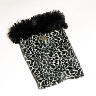 Huggrz Junior Womens Grey Leopard Faux Fur Accessories Boot Pom Poms Huggrz Shoes