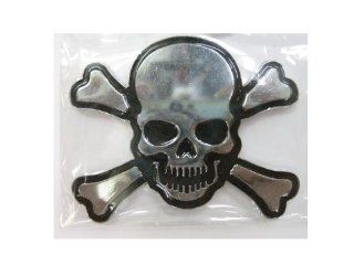 SKULL Size  7.5 cm. Emblem Auto Car Accessories By Chrome 3D Badge 3M Adhesive Automotive