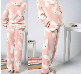 Qyz@cute Cartoon Women's Pajamas Suitable for Autumn&winter (L(height160 165 cm bust 102 cm clothes length64 cm hip115) Clothing