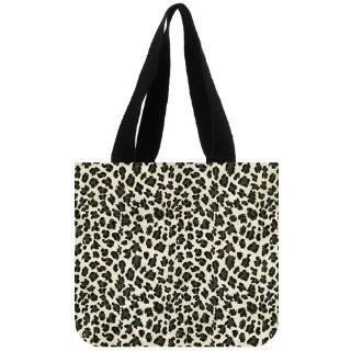 Custom Leopard Print Tote Bag (2 Sides) Canvas Shopping Bags CLB 173   Reusable Grocery Bags