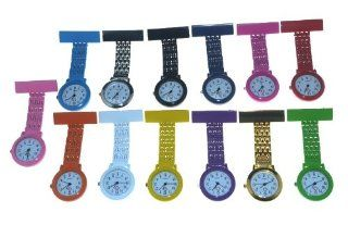 Pack of 13 PCS Nurses Watch Stainless Steel Metal Tunic Fob Watch 13 Colors Health & Personal Care