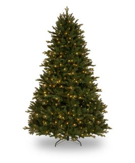 7.5 ft. Feel Real Royal Fir Hinged Pre Lit Christmas Tree   Christmas Trees