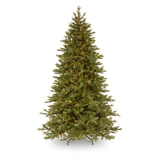 7.5 ft. Feel Real Yukon Fir Hinged Pre Lit Christmas Tree   Christmas Trees