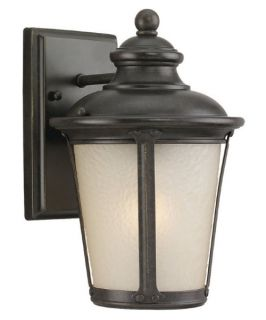 Sea Gull Cape May Outdoor Wall Lantern   10.5H in. Burled Iron   Outdoor Wall Lights