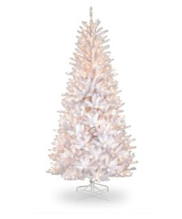 7.5 ft. Dunhill White Iridescent Fir Slim Christmas Tree   Christmas Trees