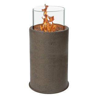 Piazza 38 in. Gas Fire Column   Chestnut   Fire Pits