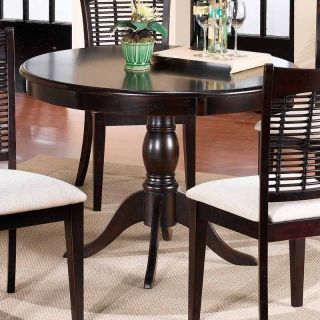 Hillsdale Bayberry 44 in. Round Pedestal Dining Table Dark Cherry   Dining Tables