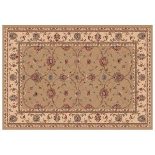 Dynamic Rugs Radiance Collection 47 x 24 Hearth Rug Champagne Cyrene   Hearth Rugs
