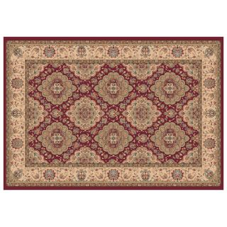 Dynamic Rugs Radiance Collection 47 x 24 Hearth Rug Red Mosaic   Hearth Rugs