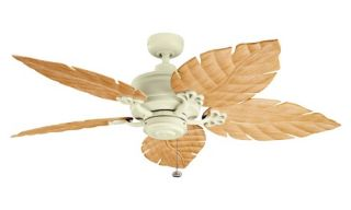 Kichler 320102ADC/370021 52 in. Crystal Bay Outdoor Ceiling Fan   Adobe Cream   Ceiling Fans