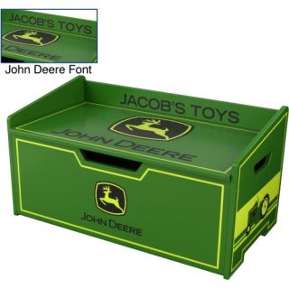 KidKraft Personalized John Deere Toy Box   Toy Chests