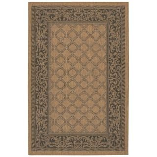 Couristan Recife Garden Lattice Indoor/Outdoor Area Rug   Cocoa/Black   Area Rugs