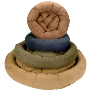 Snoozer Round Bolster Microsuede Dog Bed   Dog Beds