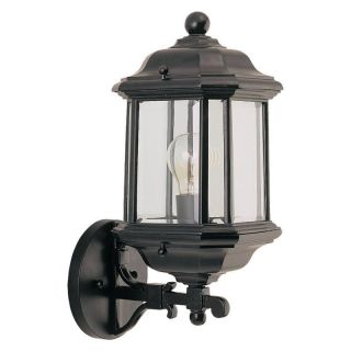 Sea Gull Kent Outdoor Wall Lantern   14.25H in. Black   Outdoor Wall Lights