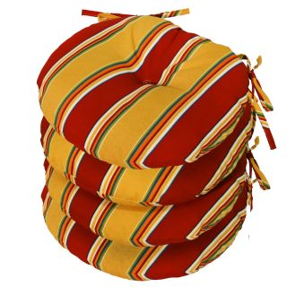 Greendale Home Fashions 15 inch Round Outdoor Bistro Seat Cushion Set of 4   Outdoor Cushions