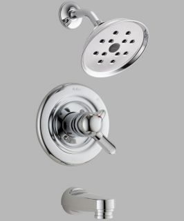 Delta Innovations T17430 H2O Monitor 17 Series Wall Mount Tub and Shower Trim Set   Bathtub Faucets