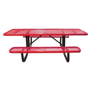 8 ft. Standard Expanded Metal ADA Commercial Grade Picnic Table   Picnic Tables
