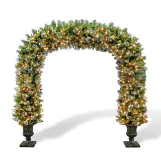 Wintry Pine Pre lit Archway Topiary   Christmas Trees