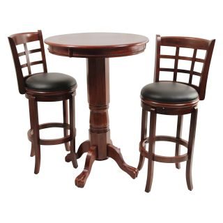 Boraam Kyoto 3 Piece Pub Table Set   Dark Cherry   Pub Tables