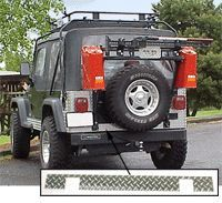 1997 2006 Jeep Wrangler (TJ) Bumper Protector   WP Warrior Products, Direct fit