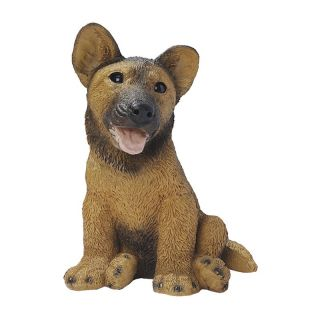 German Shepherd Puppy Dog Statue   Garden Statues