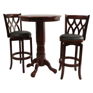 Boraam Cathedral 3 Piece Pub Table Set   Dark Cherry   Pub Tables