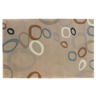 Dynamic Rugs Nolita Collection Handmade Wool Hearth Rug Beige Bubble   Hearth Rugs