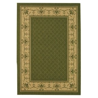 Safavieh Courtyard 0901 Indoor/Outdoor Area Rug   Green   Area Rugs