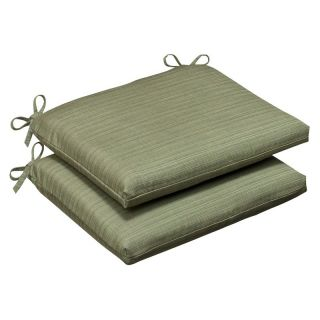 Pillow Perfect Sunbrella Solid Outdoor Seat Cushion   Squared   15.5 x 16 x 3 in.   Set of 2   Outdoor Cushions