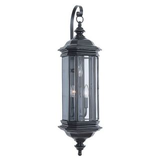 Sea Gull Hill Gate Outdoor Hanging Wall Lantern   32.25H in. Black   Outdoor Wall Lights