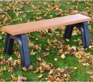 Landmark 4 ft. Commercial Grade Backless Bench   Outdoor Benches