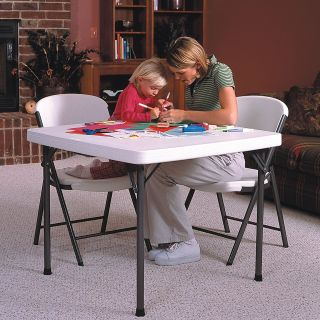 Lifetime 37 in. Square Folding Table   Banquet Tables