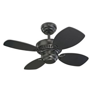 Monte Carlo 4CO28BK Colony II 28 in. Indoor Ceiling Fan   Matte Black   Ceiling Fans