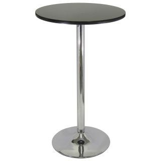Metro Round Pub Table Black with Chrome   Pub Tables
