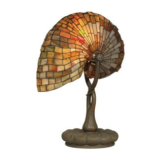 Dale Tiffany Red Nautilus Table Lamp   Tiffany Table Lamps