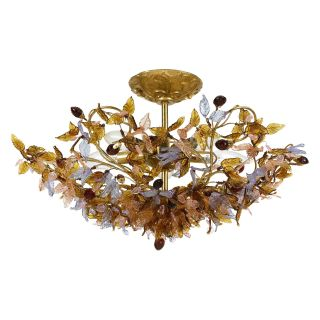 Crystorama Fiore Antique Gold Leaf Mount Light 400 GA   Ceiling Lighting