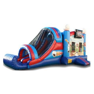 EZ Inflatables Baseball Combo Bounce House   Commercial Inflatables