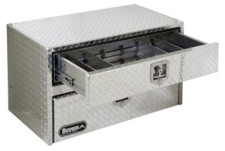 Buyers Aluminum Underbody Tool Box with Drawer   Truck Tool Boxes