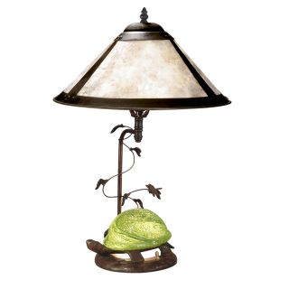 Dale Tiffany Mica Amber Orange Turtle Table Lamp   Tiffany Table Lamps