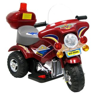 EZ Riders Maroon Harley Style Motorcycle Battery Powered Riding Toy   Battery Powered Riding Toys
