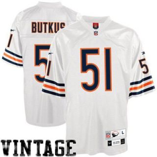 Reebok NFL Equipment Chicago Bears #51 Dick Butkus White Tackle Twill Throwback Football Jersey