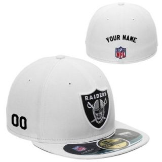 New Era Oakland Raiders Mens Customized On Field 59FIFTY Football Structured Fitted Hat