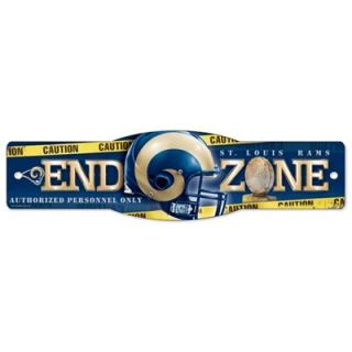 St. Louis Rams 4.5 x 17 Plastic Street Zone Sign