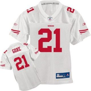 Reebok NFL Equipment San Francisco 49ers #21 Frank Gore Youth White Replica Football Jersey
