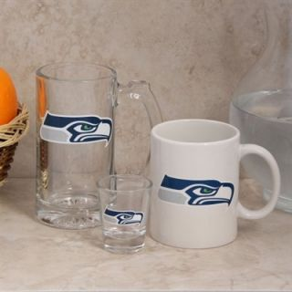 Seattle Seahawks 3 Pack Fan Beverage Set