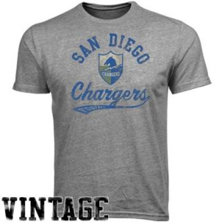 Reebok San Diego Chargers The Big Sweep Premium Heathered T Shirt   Ash