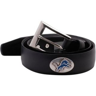Detroit Lions Smooth Leather Tapered Belt   Black